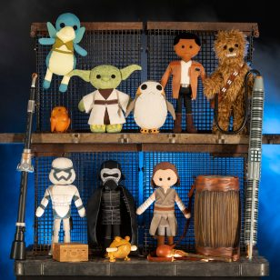 The Toydarian Toymaker stall in Star Wars: GalaxyÕs Edge will feature an assortment of artisan-style plush characters, wood and tin toys and musical instruments. Star Wars: GalaxyÕs Edge opens May 31, 2019, at Disneyland Resort in California and Aug. 29, 2019, at Walt Disney World Resort in Florida. (David Roark/Disney Parks)