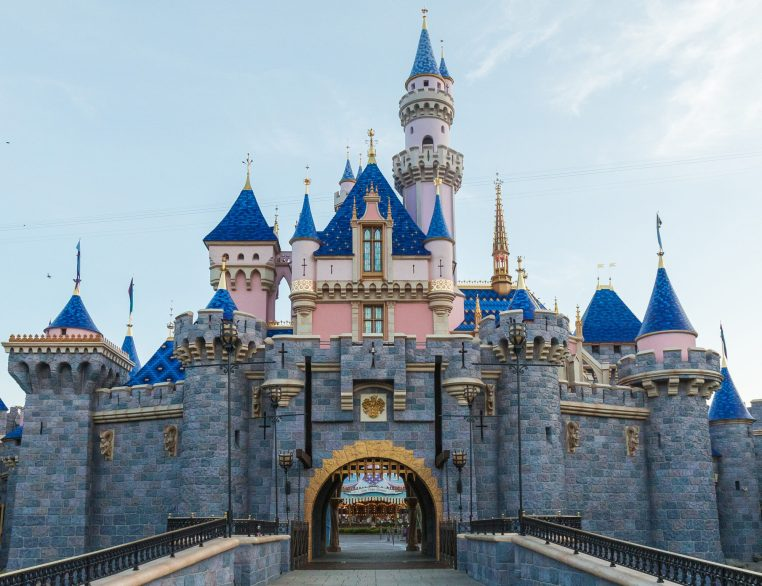 Sleeping Beauty Castle at Disneyland Park in Anaheim, Calif., is expected to welcome guests again May 24, 2019, after a stunning refurbishment, enhanced with bold new colors and pixie dust, among other enhancements. (Rob Sparacio/Disneyland Resort)