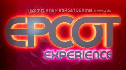 Walt Disney Imagineering presents the Epcot Experience opens Oct. 1, 2019, inside Epcot at Walt Disney World Resort in Lake Buena Vista, Fla. Located in the Odyssey Events Pavilion, the Epcot Experience provides the first in-depth look at the historic transformation already underway at Epcot. A 360-degree film presentation features upcoming attractions in development and projection-mapping technology highlights an artfully designed model of the park. (David Roark, photographer)