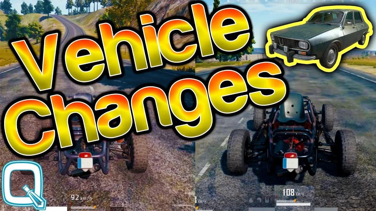 【PUBG】変更後の車両の最高速度まとめ,2人乗りバイク以外が大幅に上方修正