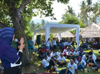 Ketua DPRD Provinsi NTB memberikan sambutan, pengarahan dan menyemangati peserta Outbond