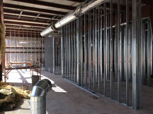 Interior walls going up