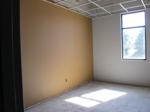 Paint in the offices.