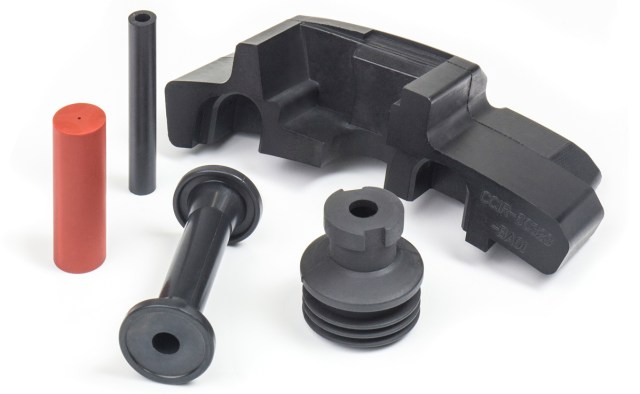 A selection of subsea and aerospace custom rubber mouldings