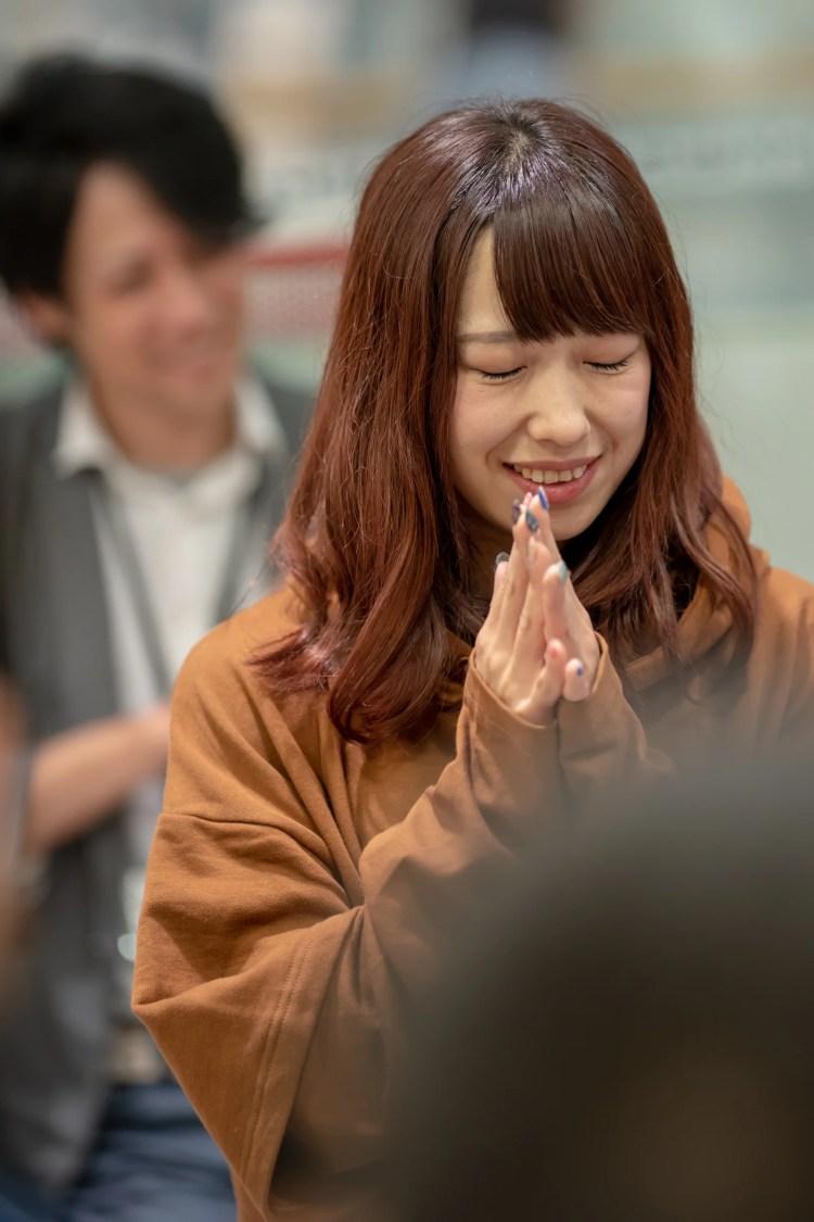 フルーティー♡ おばち ( 小原優花 )   メジャーシングル第2弾「FRONT LINER」リリースイベント