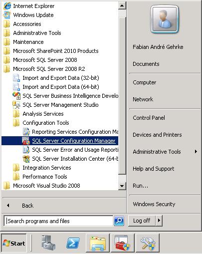 Configuração do alias para o SharePoint 2010 conectar ao SQL Server (1/4)
