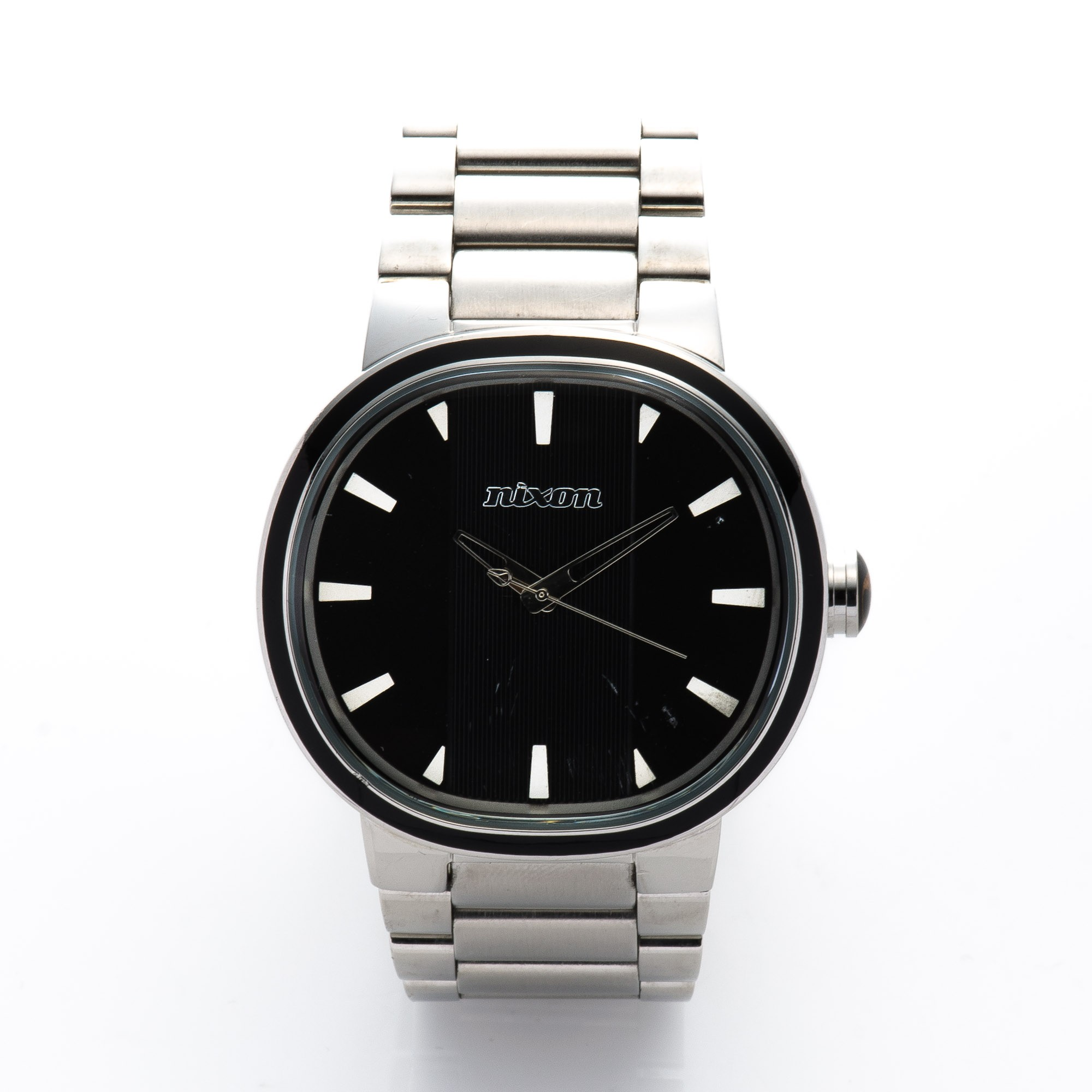 Buy Silver Tone Stainless Steel Nixon Watch At Lxr Amp Co