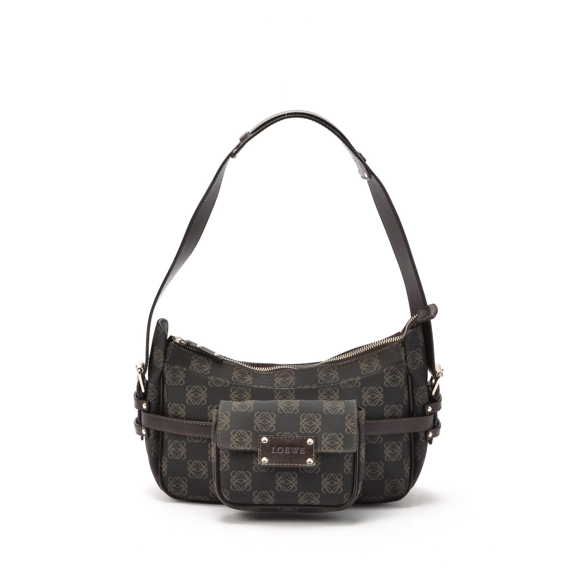 Buy Dark Grey Pvc Loewe Shoulder Bag At Lxr Amp Co