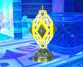 氷晶の聖塔 つぼみのような謎の装置