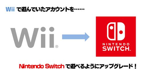 Wii→Nintendo Switch 無料アップグレード