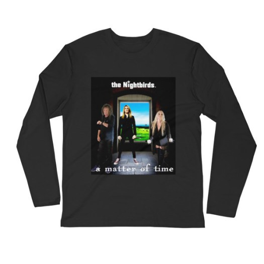 A MATTER OF TIME - Men's Long Sleeve Fitted Crew 00040