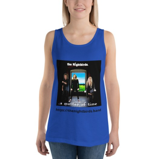 The Nightbirds A MATTER OF TIME themed Bella + Canvas 3480 Unisex Jersey Tank with Tear Away Label 00048