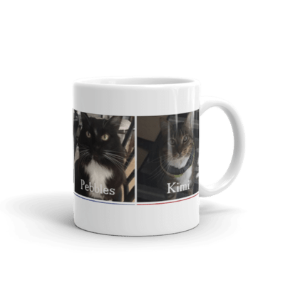 Ceramic Coffee Mug Featuring the Nightbirds Cats Tynie, Mitti, Pebbles & Kimi