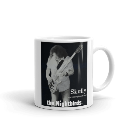 the Nightbirds Coffee Mug, Cup Featuring Skully on Bass 00024