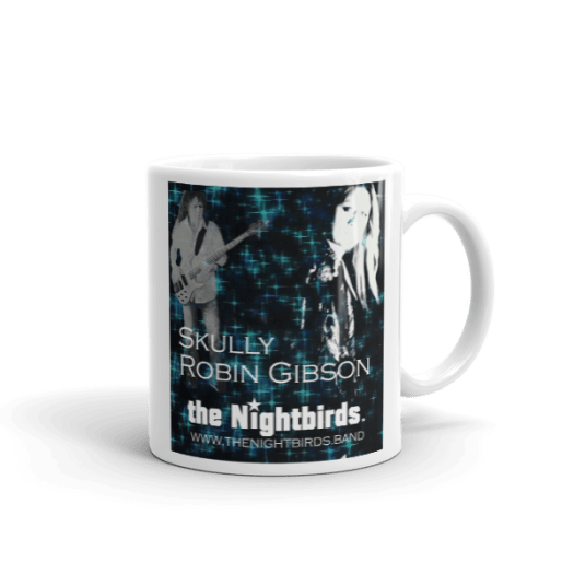 White Ceramic Mug featuring Skully & Robin Gibson from Feels So Right Video