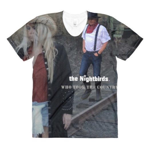 the Nightbirds WHO TOOK THE COUNTRY Sublimation women's crew neck t-shirt 00031