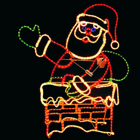 Santa in Chimney AXM-0002