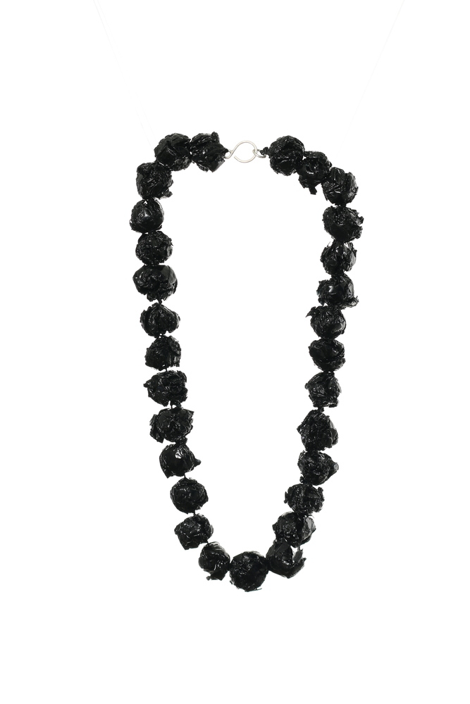 Black pearl necklace IP.WBO.BR.Neck.Black.1