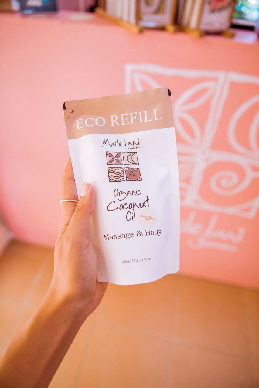Koko Samoa and Vanilla- Eco Refill Pouches 300ml Organic Coconut Oil 00114