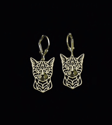 Bengal Cat Drop Earrings