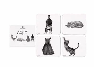 Casual Cats Coasters by Ashdene