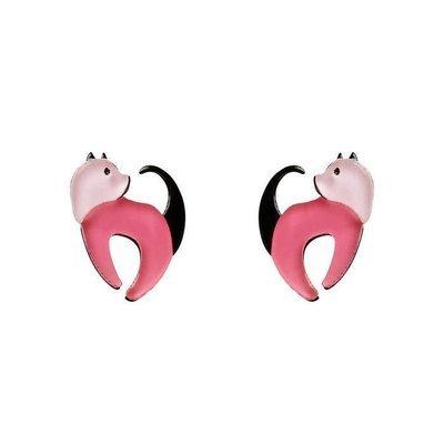 Cat Walk Stud Cat Earrings