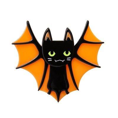 BAT CAT BROOCH - by Erstwilder