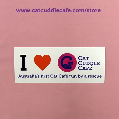 I Love the Cat Cuddle Cafe Bumper Sticker for Nessi