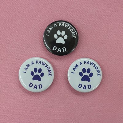 I am a Pawesome Dad Badge