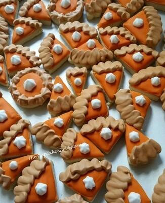Mini Pumpkin Pie -  Sugar Cookies