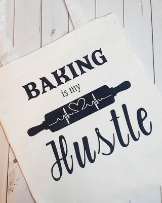 Baking is my Hustle - Canvas Tote Bag
