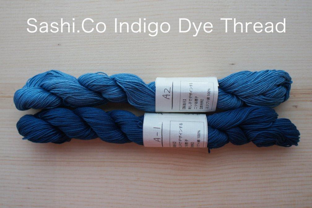 Indigo Dye Sashiko Thread | 145 meter skein ID_145Thread_A