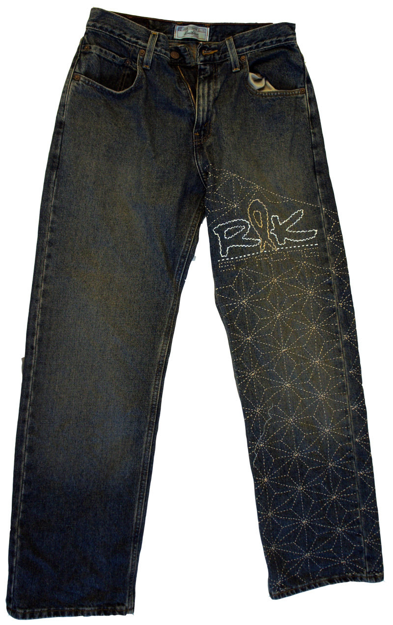 Customized Traditional Sashiko on your Denim Jeans