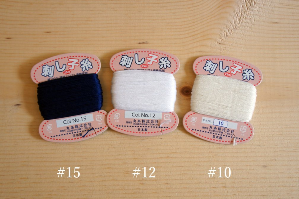 Sashiko Thread | Small Card Size MC_ThreadCard_MI