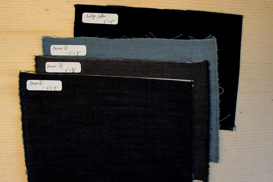 Mending Swatch Set | 3 Denim & 1 Indigo Cotton MendingSwatchesSet