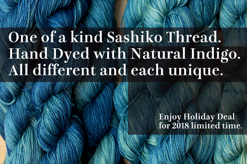Indigo Dye Sashiko Thread | One of a kind for Holiday 2018 ID_Thread_145_OOaK