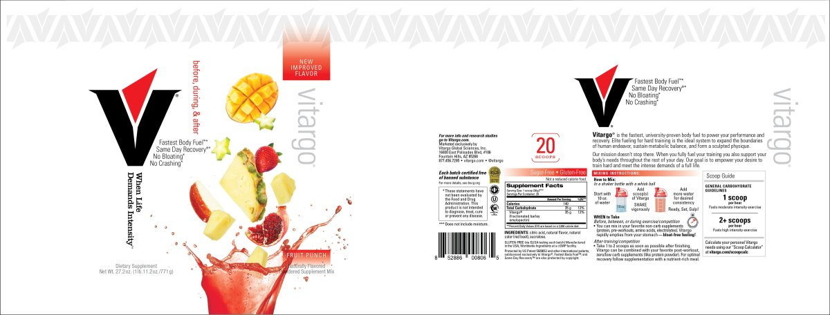 Fruit Punch 20 Scoop Label