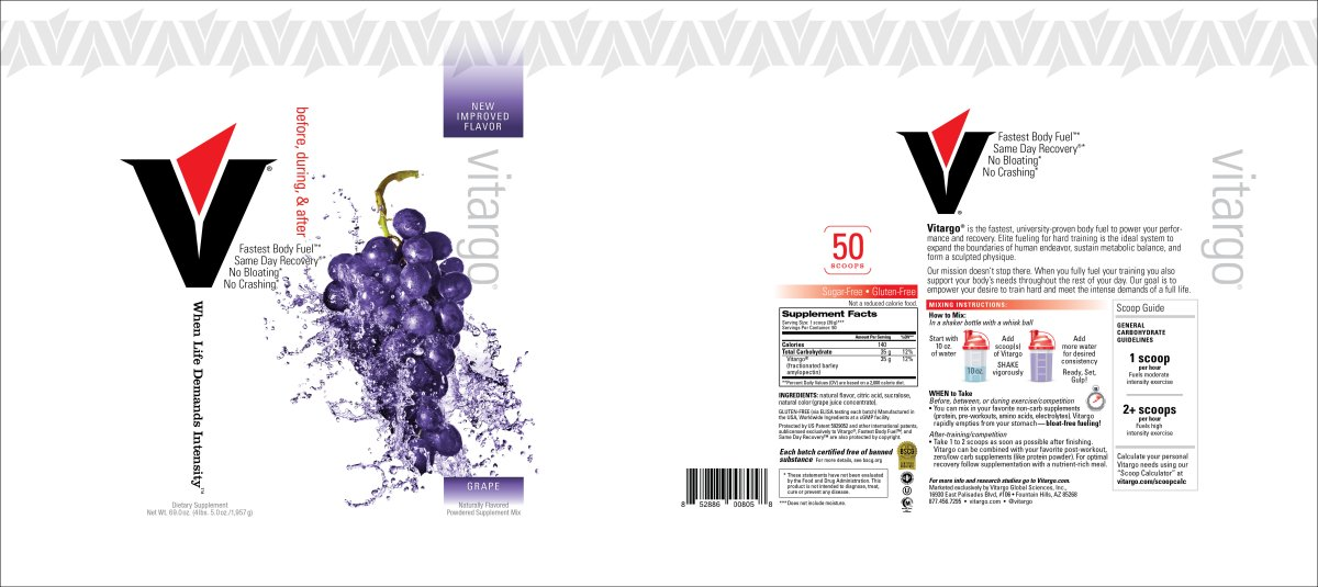 Grape 20 Scoop Label