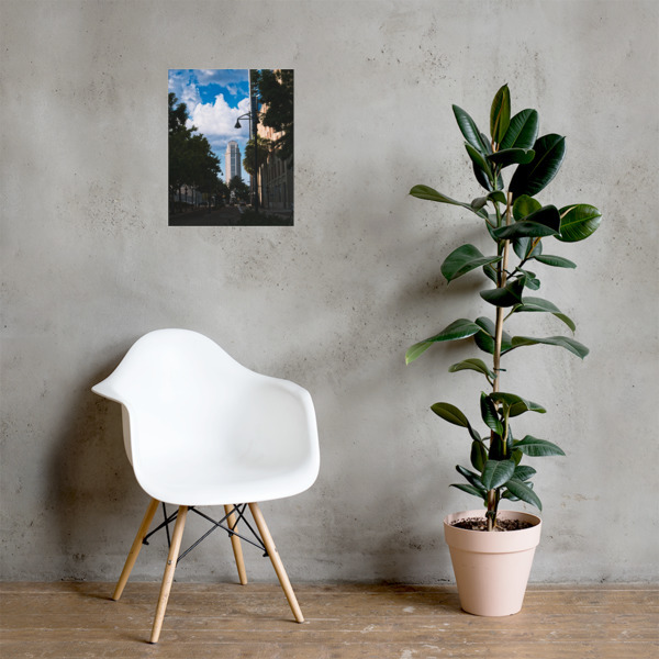 Downtown Orlando Photo paper poster