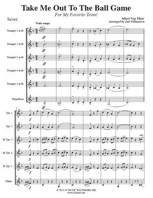 Take Me Out To The Ballgame for Trumpet Ensemble