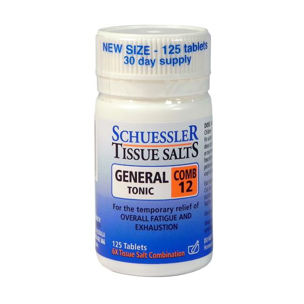 Schuessler Tissue Salts General Tonic Combo 12 x 125 tabs 00095