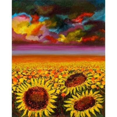 Aziza Saliev -- Sunflowers