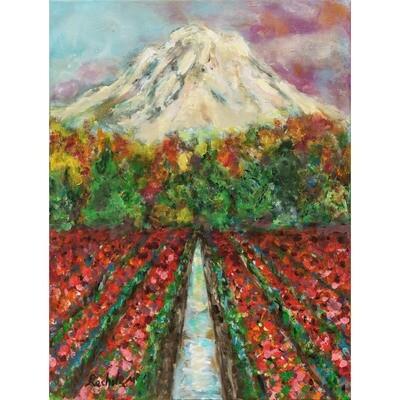 Rachel Muller Mount Rainier in Bloom