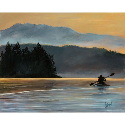 Lois Haskell -- Sunset Kayak