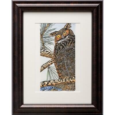 Sylvia Portillo -- Great horned Owl in Summer