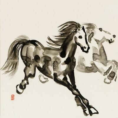 Nam Kim -- Dancing horses 2