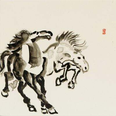 Nam Kim -- Dancing horses 1
