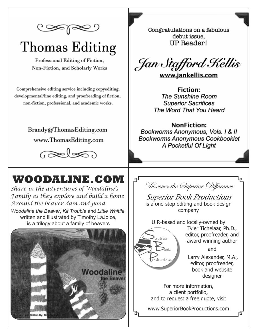 U.P. Reader Vol. 3 - Quarter Page advertising