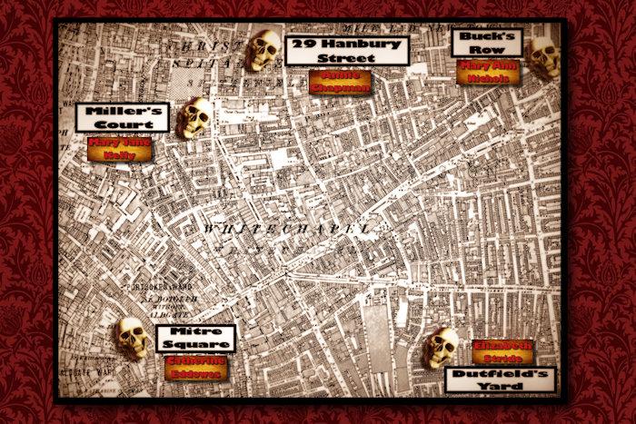 Death Map of Whitechapel