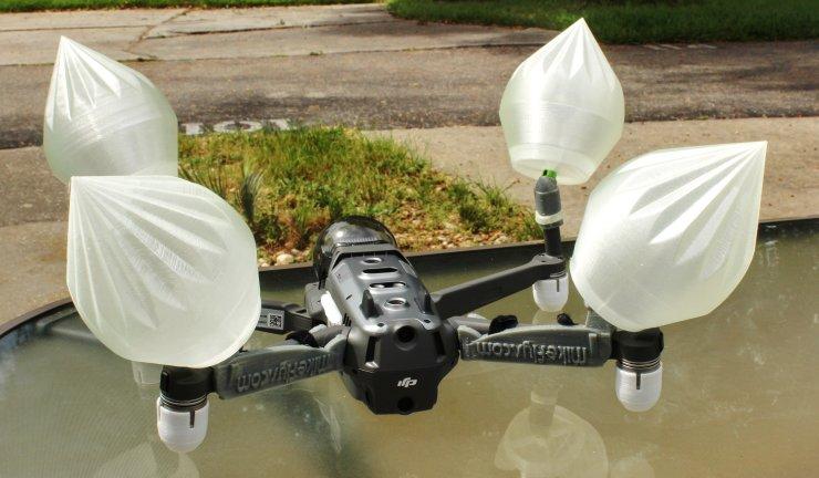Mavic 2 Pro/Zoom Float Kit Soft/Squishy 3D printed floats.